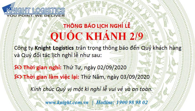 THÔNG BÁO LỊCH NGHỈ LỄ - QUỐC KHÁNH 2/9